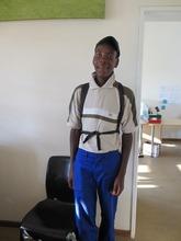 Thato in his new school uniform