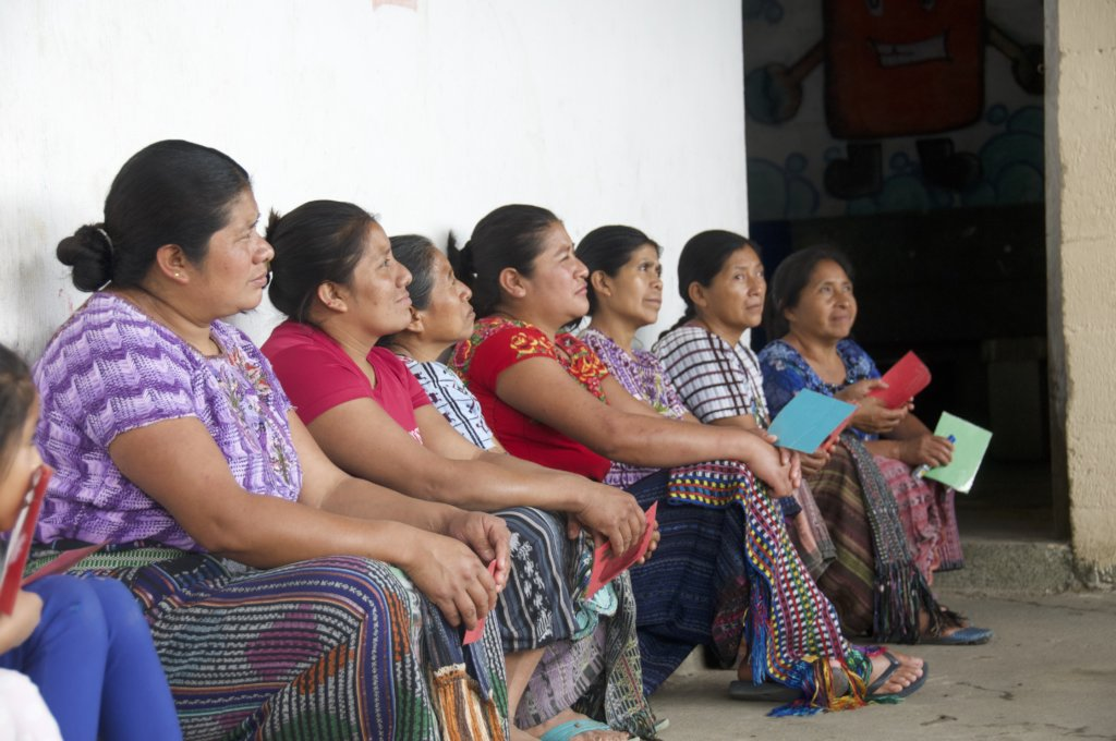 Mothers participate in the opening activity