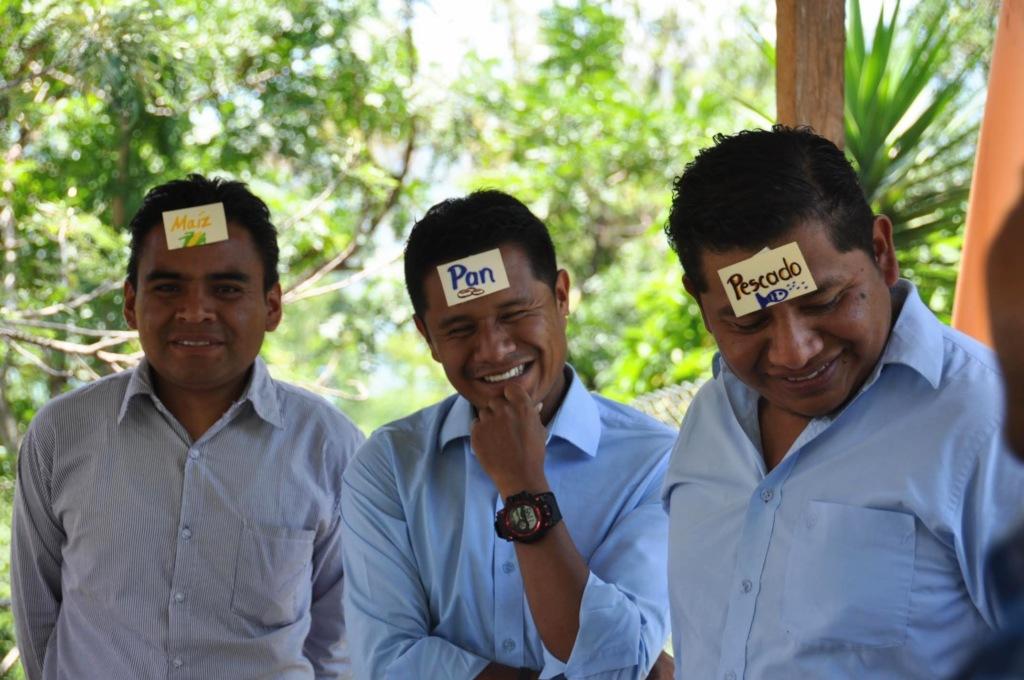Teachers participate in a game
