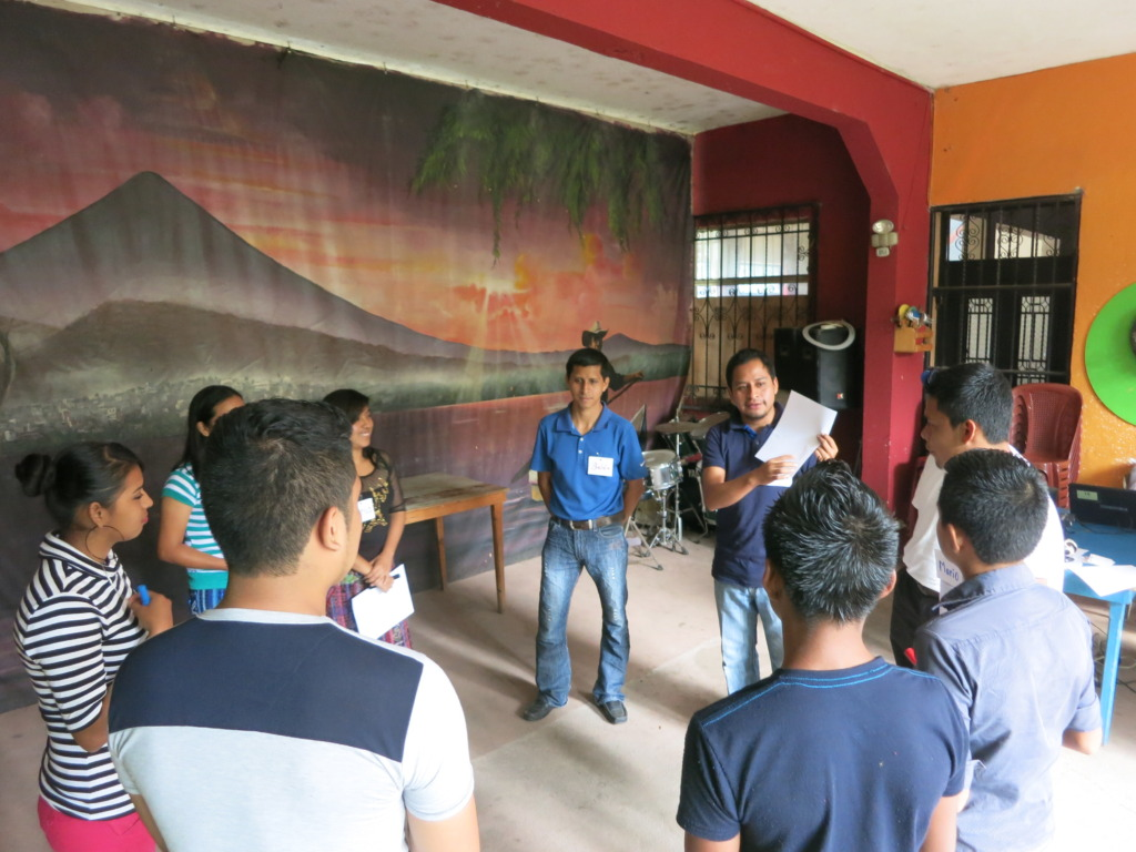 Youth participating in a training at our office