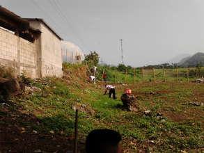 Beginning of construction in Nueva Vida in April