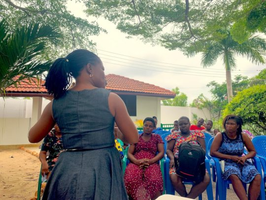 A Women's Empowerment workshop in Ghana