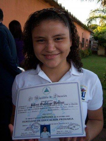 Fatima from Casa Bernabe celebrates graduation!