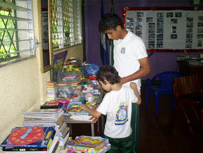Students were invited to see the donated items.