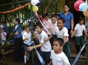 Kids running to play!