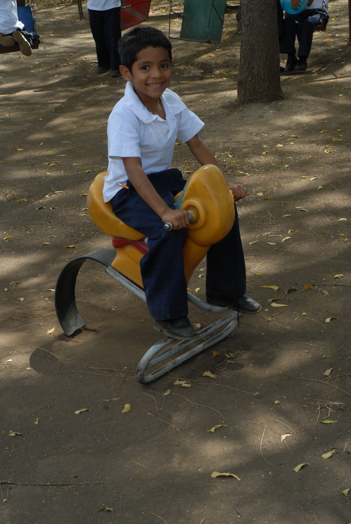 Pancho playing at the playground