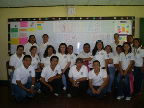 "The teachers made a ""Muchas Gracias"" sign!"