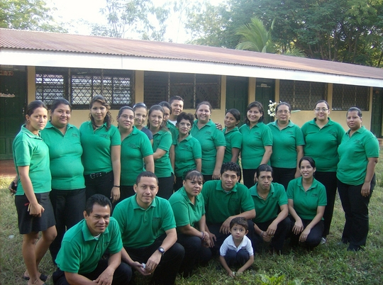 Verbo School staff in Veracruz, Nicaragua