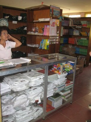 Library and small supply room at Verbo school.