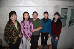 Librarians of the Gobi Altai Central Library