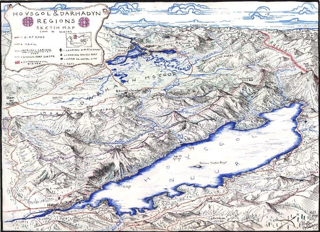 Huvsgul Province Sketch Map