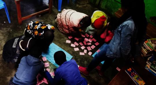 Children engage in fun literacy activities