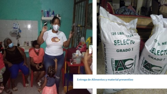 Delivery of food and prevention items.