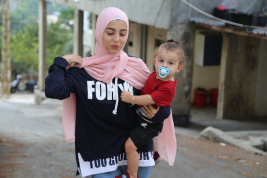 Young Woman and Child in Lebanon