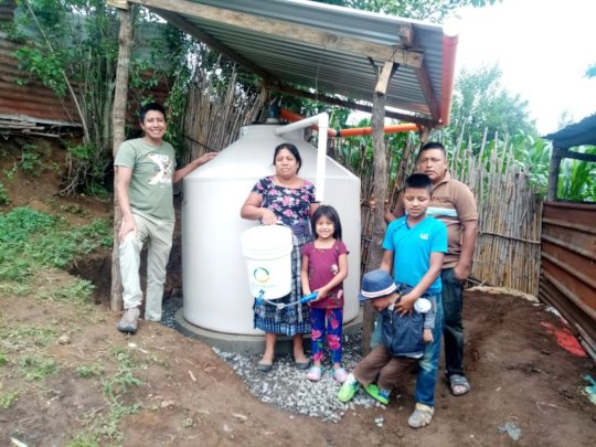 1st completed rainwater harvesting system