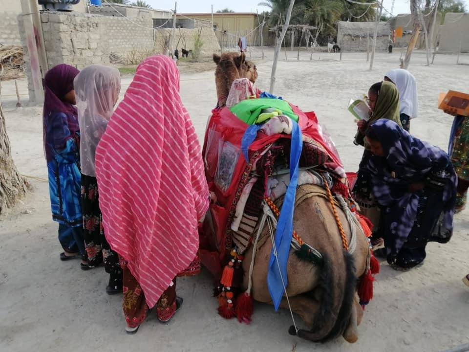 Camel Libraries in 16 villages for 2000 children