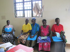 Pregnant women getting their free mosquito nets