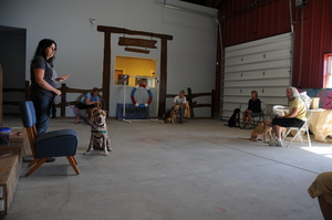Volunteers training at the Ranch