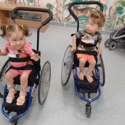 Galina and Mihai in their new wheelchairs