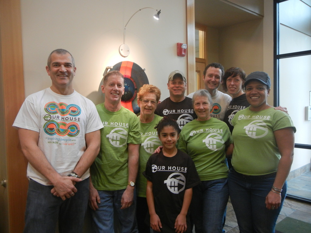 Employees volunteering for Oregon Food Bank
