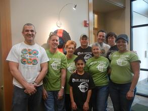 Employees volunteering for Oregon Food Bank