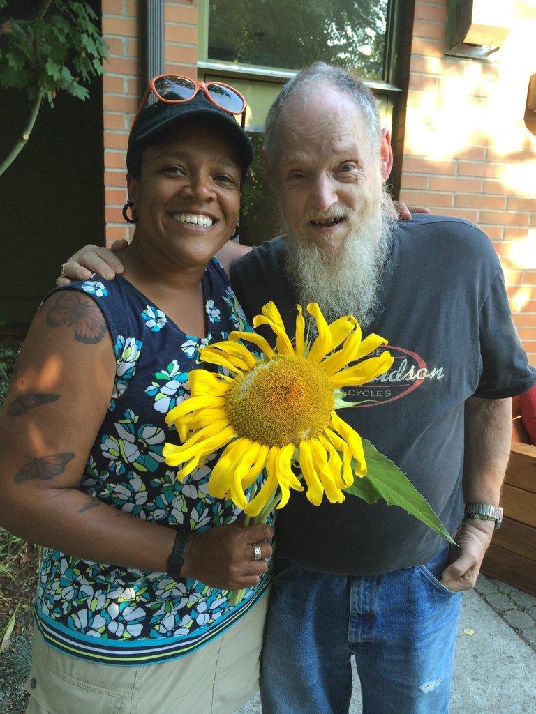 Ericka and sunflower