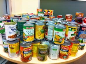 Food Drive donations