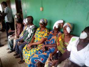 Techiman patients wait for eye patch removal