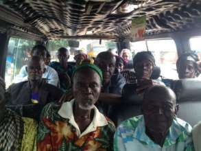 Patients on their way to cataract outreach in Yegi