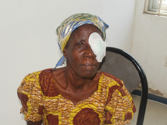 Cataract patient in Ghana, Mary
