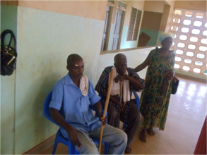Patients waiting for cataract surgery