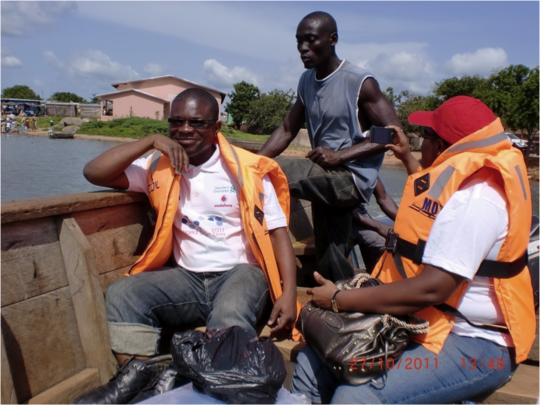 KATH clinical staff cross river to access patients