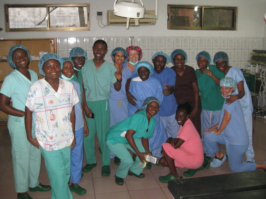 The KATH and Moran team with Dr. Ali