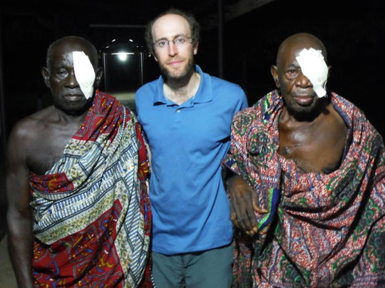 Dr. Kresch with patients