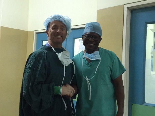 Drs. Geoff Tabin and Seth Lartey