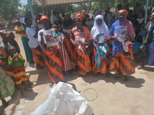 women of Sipigui with their protection kits
