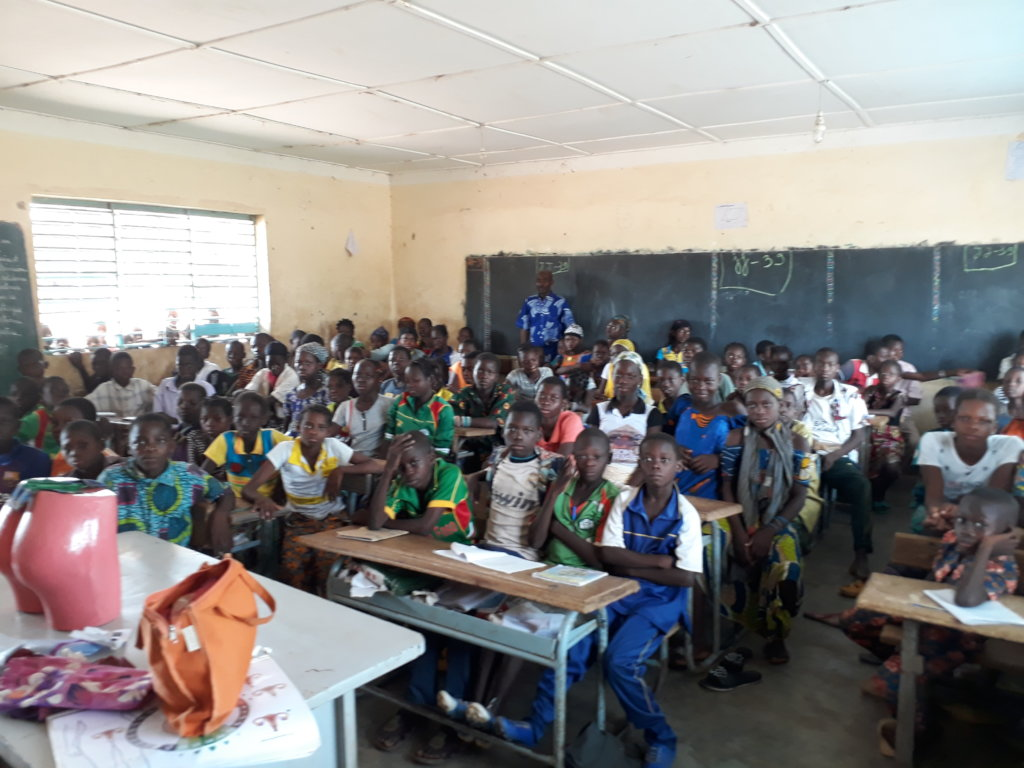 awareness meeting in a primary school