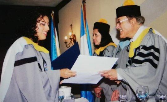 Maricruz receiving her college degree