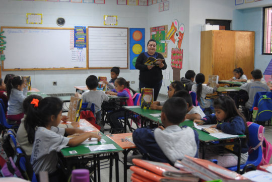 Carla in her classroom at New Hope School