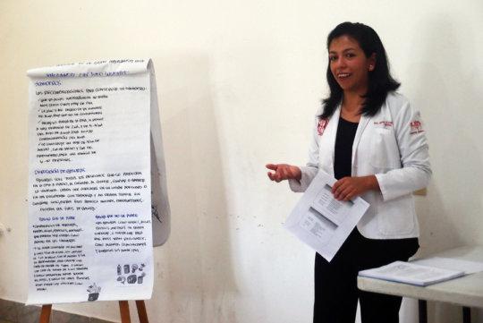 Dr. Miriam facilitated the training