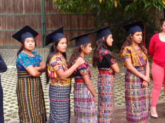Graduates from the village of San Rafael