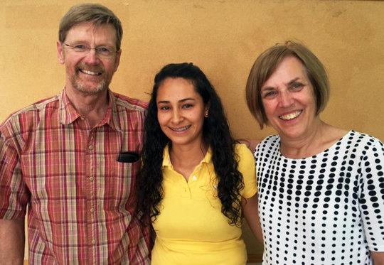 Barb, Gary, and scholarship recipient Melissa