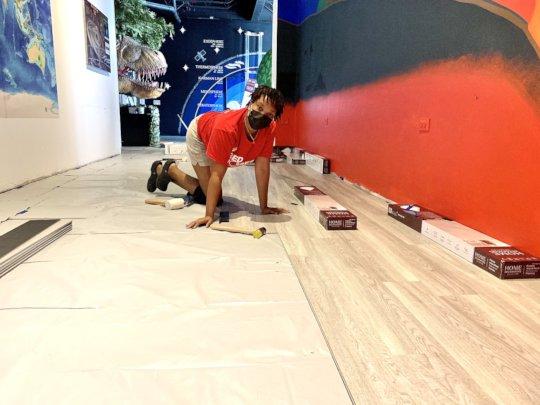 VICM Staff Install Vinyl Plank Flooring