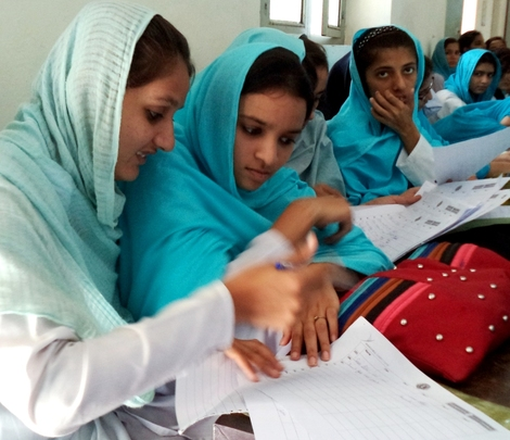Young women participating in training this month
