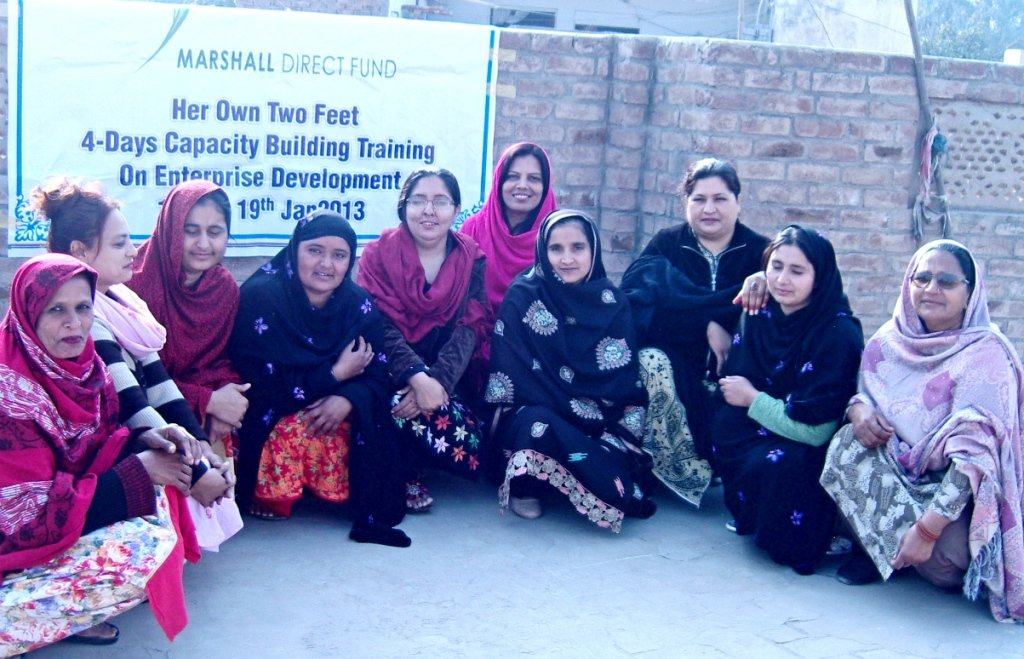 Vocational training taking place in Multan