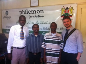 Andrew, Ben, Chalo and Timothy at Philemon HQ