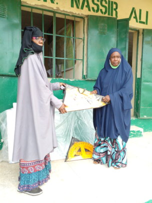 Hand over of teaching aids