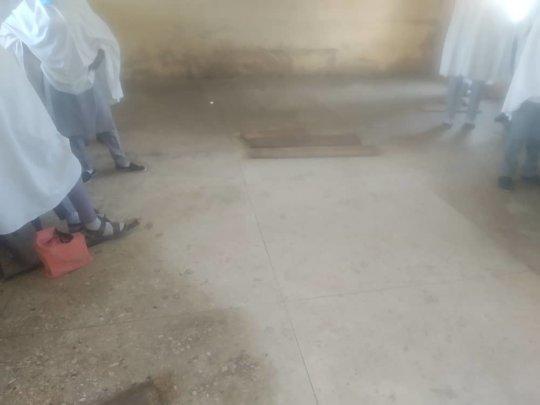 Floor of the classrooms