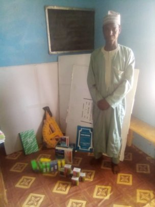 Teaching aids given to principal PLWD school