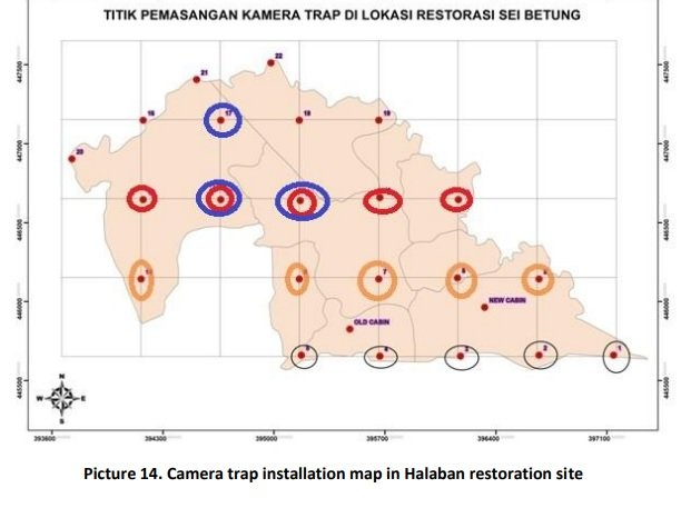 map of new camera traps